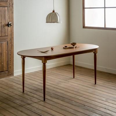 [장미맨숀] 레베카 타원형 원목 테이블 1800