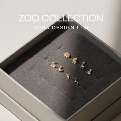 14K ZOO 컬렉션 미니 귀걸이 & 피어싱 [한쪽]