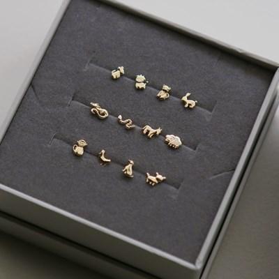 14K 12지 동물 컬렉션 귀걸이 & 피어싱 [한쪽]