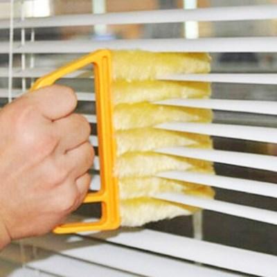 좁은틈을 편리하게 청소하는 에어컨 송풍구 블라인드 청소 브러쉬