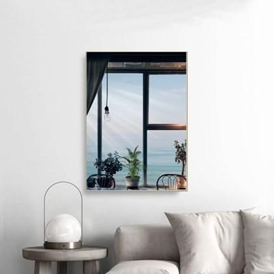 창문 바다 풍경 미드센츄리 감성 사진 인테리어 포스터 액자