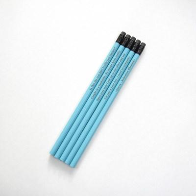 나미브 원목연필 Ocean Blue 5본입 세트 / 메시지각인