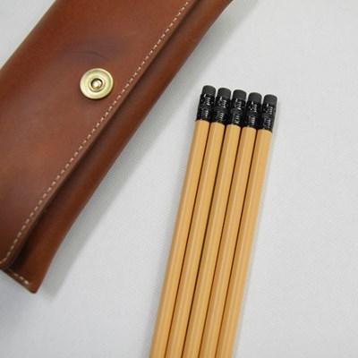 나미브 원목연필 Mustard Yellow 5본입 세트 / 메시지각인