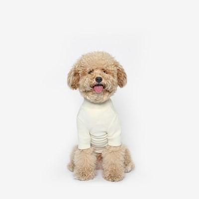 강아지 베이직 목폴라 (아이보리)