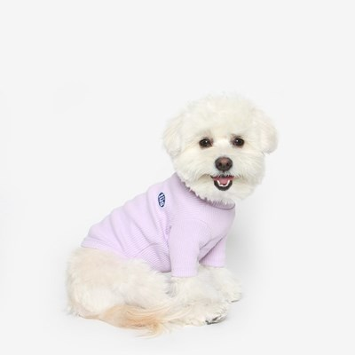 강아지 베이직 목폴라 (라일락)