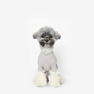 강아지 베이직 목폴라 (그레이)