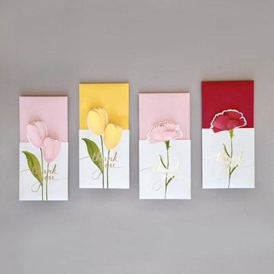 플라워 용돈봉투 4종 ( 핑크 옐로우 튤립 레드 핑크 카네이션 )