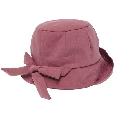 KKU28.뒷리본 여성 벙거지 모자 버킷햇 봄 가을 챙모자