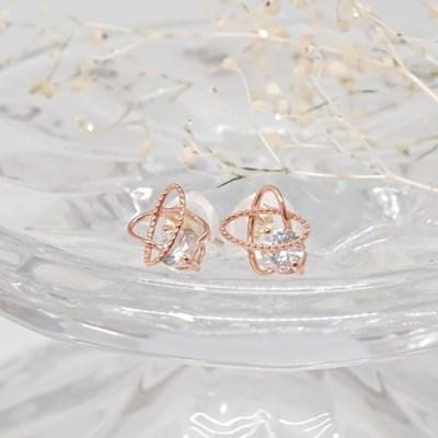 [오팔하우스]14k 별 큐빅 귀걸이 OPPKE6105