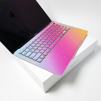 맥북 Pro 13형 A1706 18년 그라데이션 디자인 노트북 스킨