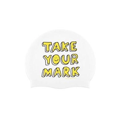 Take Your mark Swimcap White