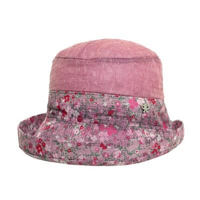 KCU07.꽃챙 씨스루 중년 여성 벙거지 모자 버킷햇