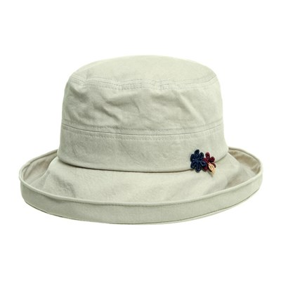 KCU04.워싱면 중년 여성 벙거지 모자 버킷햇