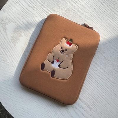 [10x10 단독할인]영이의숲_체리 꽃카 태블릿 파우치