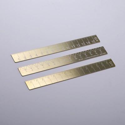 LOG Raw Brass Ruler  16Cm  로그 황동자 160mm