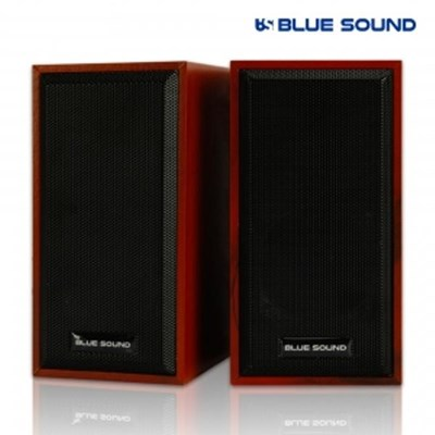 블루사운드 BS-S100 USB 스피커 2채널 우드 6W 고출력_(1824495)