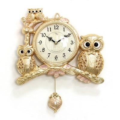 (kspz366)저소음 턱시도 부엉이 시계 (금)_(1534029)