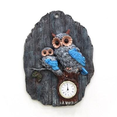 (katl047)벽걸이 부엉이 시계 블루_(1534020)