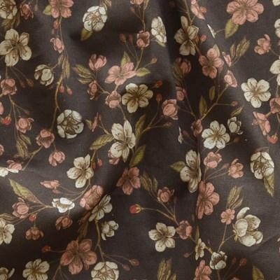 [Fabric] 복사꽃싸롱 브라운 린넨