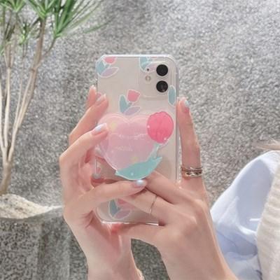 하트 튤립 스마트톡 케이스 아이폰
