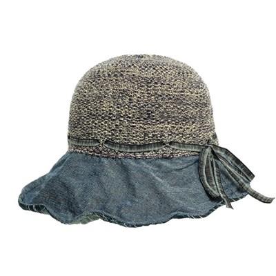 KAU20.배색챙 쿨니트 중년 여성 벙거지 모자 플로피햇