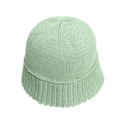 KAU31.지사혼방 심플 니트 여성 벙거지 모자 버킷햇