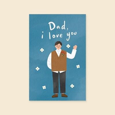 캘리엠 HH3523-DAD I LOVE YOU 캘리그라피 사랑카드 감사카드