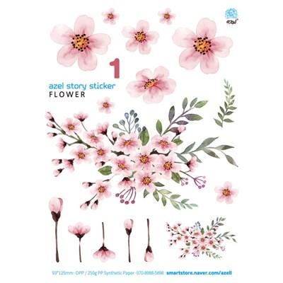 아젤스토리스티커_ flower set