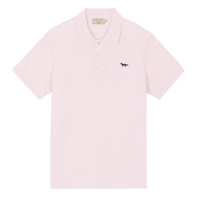 메종키츠네 네이비폭스 패치 클래식 폴로 티셔츠 라이트
