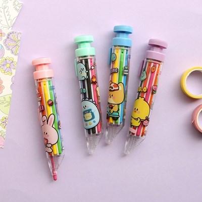 핑크풋 쪼꼬미 친구들 8색 색연필