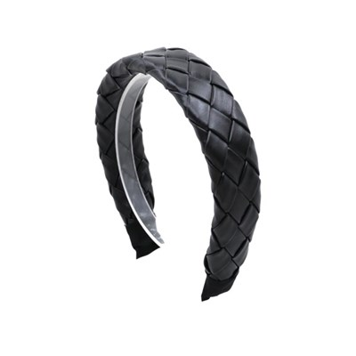 leather weaving hairband (black)