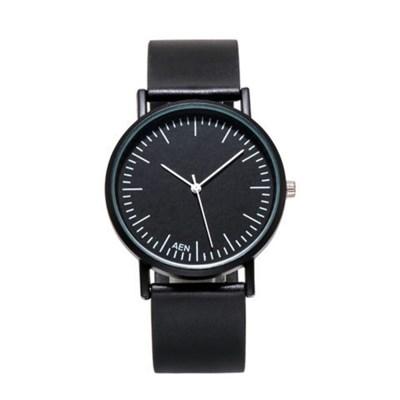 1Plus1 아날로그 MSTIANQ 심플블랙 손목시계 와치 AEN