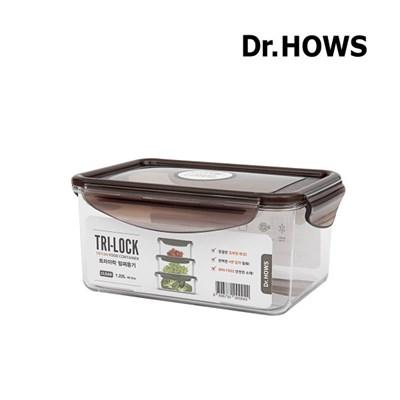 [닥터하우스] 트라이락 밀폐용기 직사각 1.22L