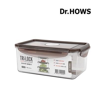 [닥터하우스] 트라이락 밀폐용기 직사각 1.5L
