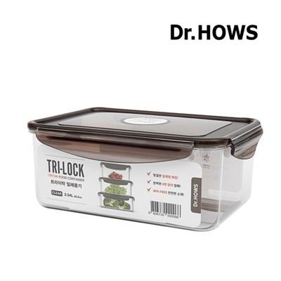 [닥터하우스] 트라이락 밀폐용기 직사각 2.54L