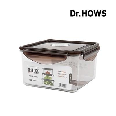 [닥터하우스] 트라이락 밀폐용기 정사각 1.41L