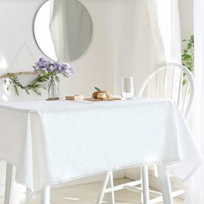 리린 레이스 린넨 화이트 식탁보 (4size)
