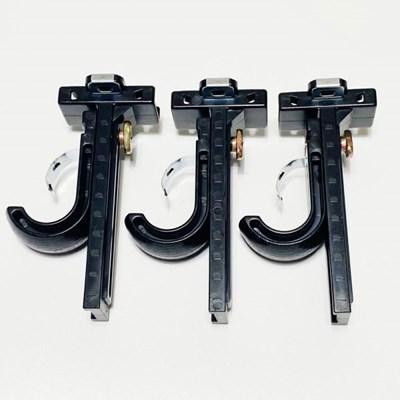 리프트업 25mm커튼봉 조절브라켓 블랙