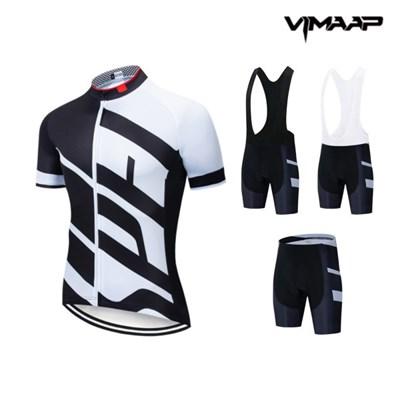 VIMAAP 반팔 져지 싸이클복 자전거의류 - 블랙/화이트