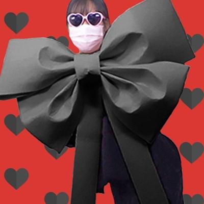 DIY 초대형 리본 (블랙) - 인간화환 기념일 이벤트 선물_(301864915)