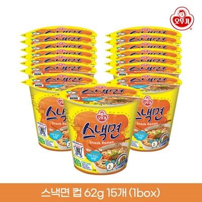 오뚜기 스낵면 컵 62g 15개입 1박스