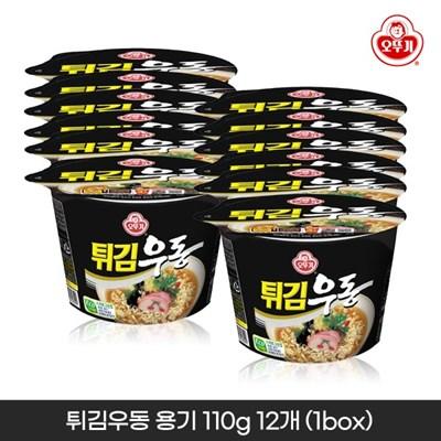 오뚜기 튀김우동 용기 110g 12개입 1박스