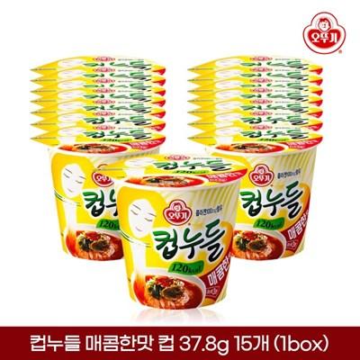 오뚜기 컵누들 매콤한맛 컵 37.8g 15개입 1박스