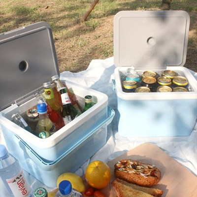 1+1 낚시 캠핑 휴대용 차량용 보냉 아이스박스 11L