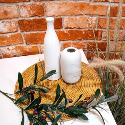 [반짝조명] 홈카페 라탄 원형 테이블 매트 3종