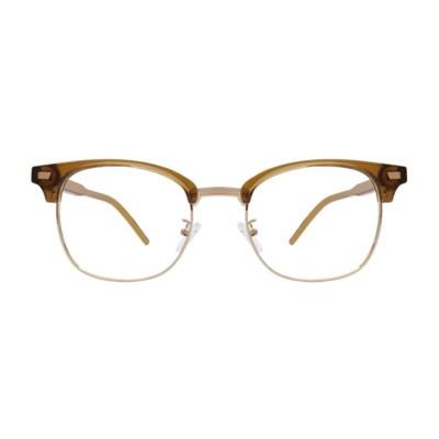 Thelma BROWN CRYSTAL 투명 하금테 안경