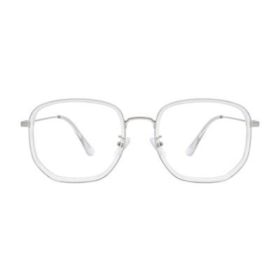 Poetic CRYSTAL SILVER 오버사이즈 콤비 뿔테 안경