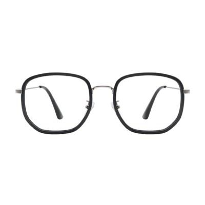 Poetic BLACK SILVER 오버사이즈 콤비 뿔테 안경