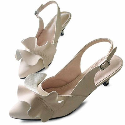 kami et muse Rich frill middle heel sling back_KM21s084