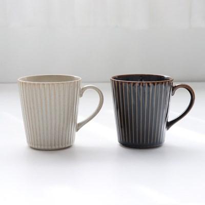 일본그릇 시노기 플라워 라인 머그컵 스프컵